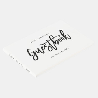 Brushed Charm EDITABLE COLOR Wedding Guest Book