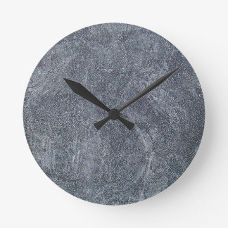 Brushed Grey Stone Granite Texture Background Wall Clock