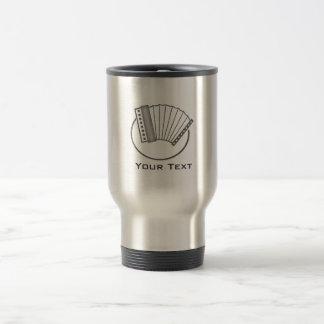 Brushed metal-look Accordion Travel Mug