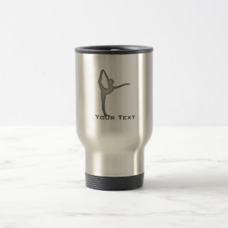 Brushed Metal-look Ballet Travel Mug