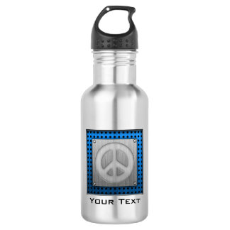 Brushed metal-look Peace Sign 532 Ml Water Bottle