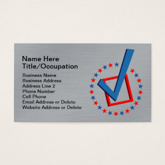 150 for politician business cards and for politician business card brushed metal look professional vote politicians business card reheart Images