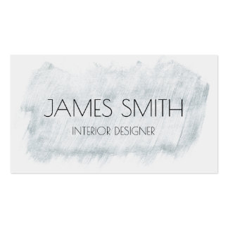 Brushed Silver Abstract | Business Card