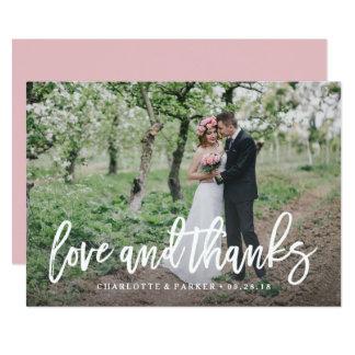 Brushed Wedding Thank You Photo Card