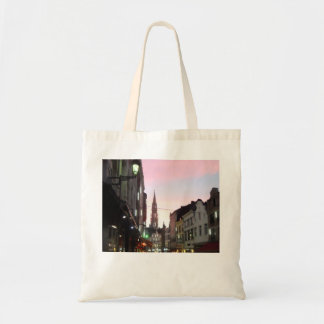 Brussels At Sunset Budget Tote Bag
