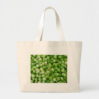 Brussels cabbage large tote bag