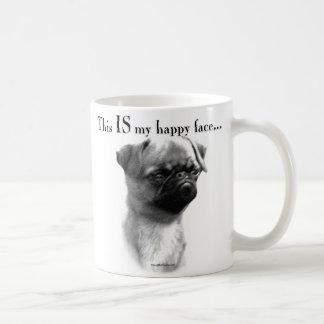 Brussels Griffon Happy Face Basic White Mug