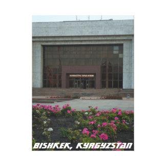 Brutalist National Museum, Bishkek Frunze Canvas Print