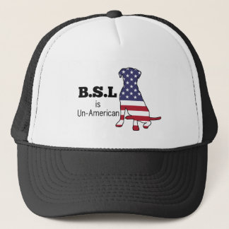 BSL is Un-American, Pitbull Support Trucker Hat