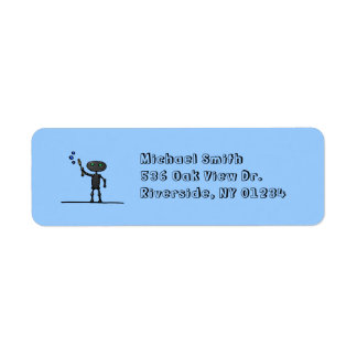 Bubble Bot Return Address Labels