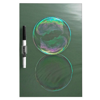 Bubble floating on water dry erase boards