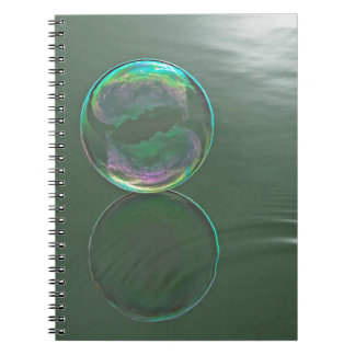 Bubble floating on water note books