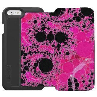 Bubble Gum Pink Abstract Incipio Watson™ iPhone 6 Wallet Case