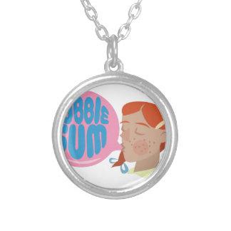 Bubble Gum Round Pendant Necklace