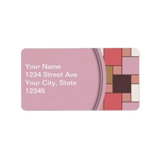 Bubble Gum Sorbet Address Label