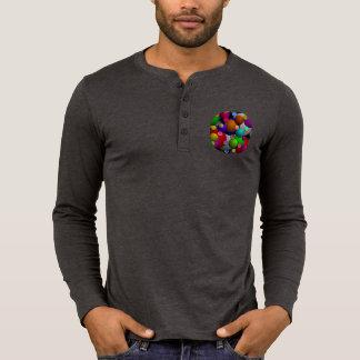 Bubbles Canvas Henley Long Sleeve Tee Shirt