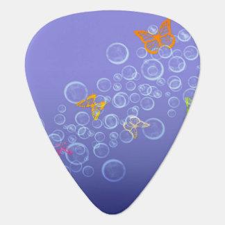 Bubbles n Butterflies Guitar Pick