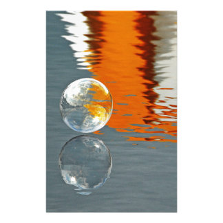 Bubbles Reflecting in Water Custom Stationery