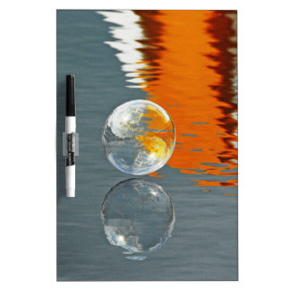 Bubbles Reflecting in Water Dry Erase Board
