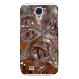 Bubbles , Water beads close up orange clear Galaxy S4 Case