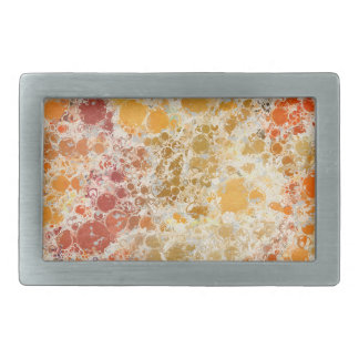 Bubblicious XI Red and Orange Abstract Belt Buckle