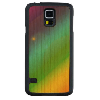 Bubbly Rainbow Carved Cherry Galaxy S5 Case