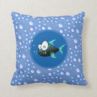 Bubbly Waters Fish Cushion