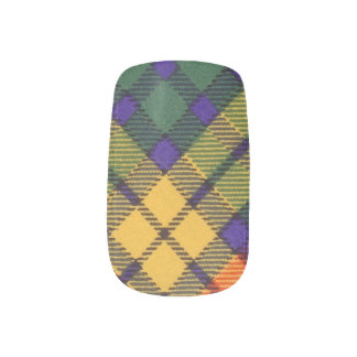 Buchanan Family clan Plaid Scottish kilt tartan Minx Nail Art