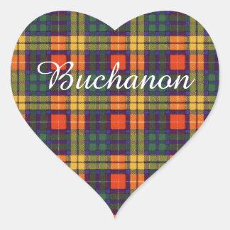 Buchanon clan Plaid Scottish tartan Heart Sticker