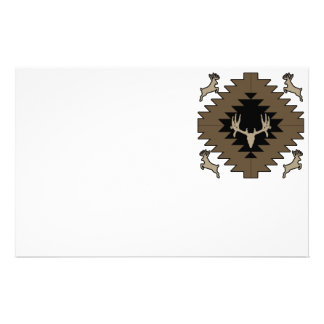 Buck deer American Indian art Stationery