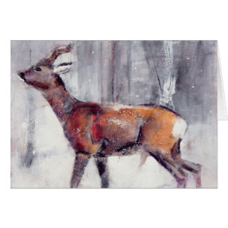 Buck in the snow 2000 greeting card