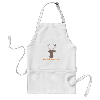 Buck Stops Here Adult Apron