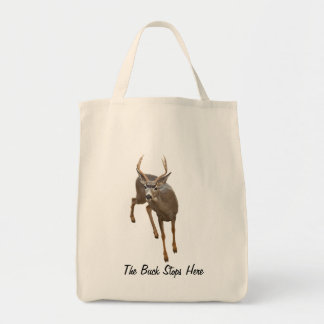BUCK STOPS HERE CANVAS BAGS