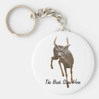 BUCK STOPS HERE BASIC ROUND BUTTON KEY RING