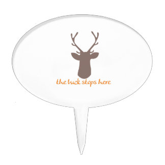Buck Stops Here Cake Toppers