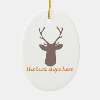 Buck Stops Here Christmas Ornaments