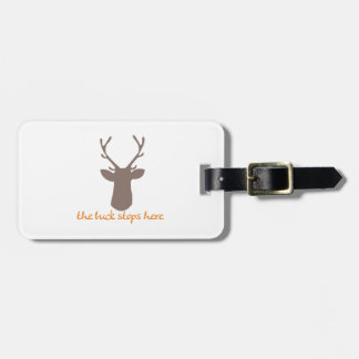 Buck Stops Here Luggage Tags