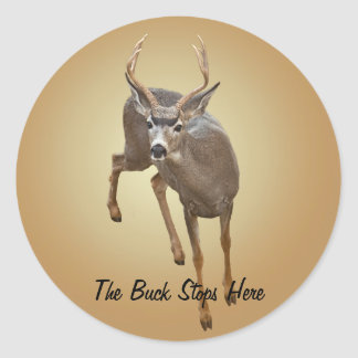BUCK STOPS HERE ROUND STICKER