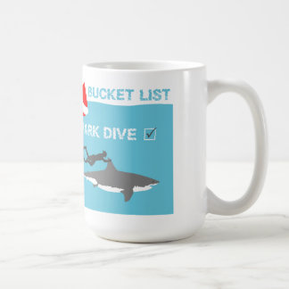 Bucket List Shark Dive Coffee Mug