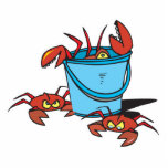 bucket of crabs acrylic cut outs