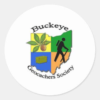 Buckeye Geocaching Society Round Sticker