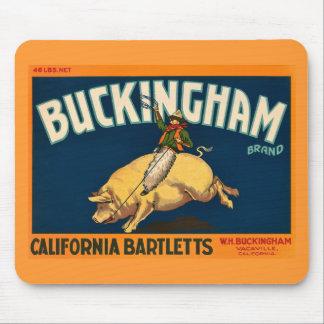 Buckingham Bartlett Apples - Vintage Crate Label Mouse Mats