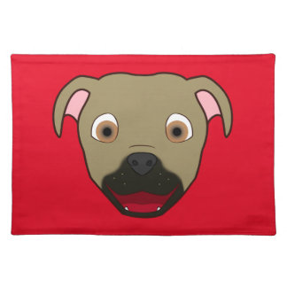 Buckskin Pitbull Face Placemat
