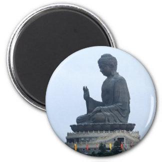 Buddha 6 Cm Round Magnet