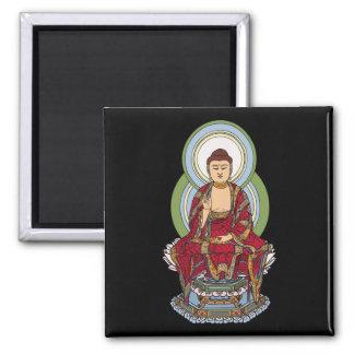 Buddha Abhaya Mudra Square Magnet