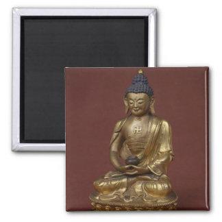 Buddha Amitayus seated in meditation Square Magnet