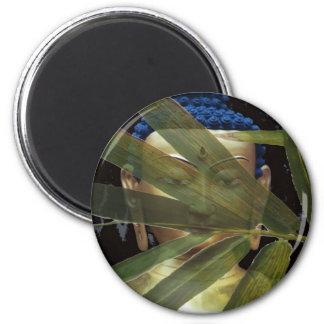 Buddha  Bamboo face 6 Cm Round Magnet