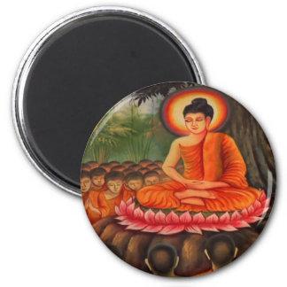 BUDDHA   Buddhism  Peace 6 Cm Round Magnet