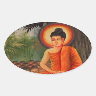BUDDHA   Buddhism  Peace Oval Sticker