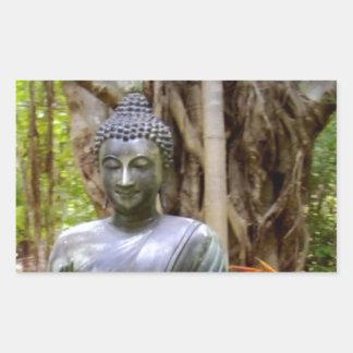 BUDDHA   Buddhism  Peace Rectangular Sticker